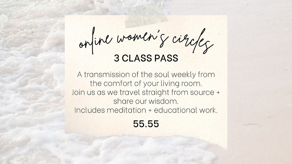 3 Class Pass Online Circle