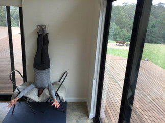 A headstand alternative with no standing on the head.