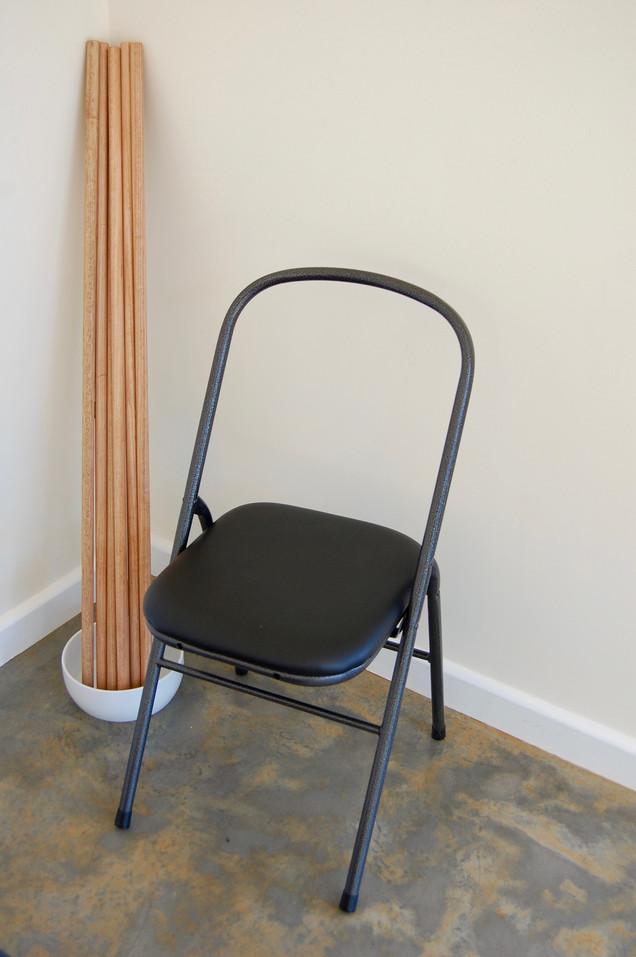 Very happy to have a full set of sturdy, open-backed chairs from iyogaprops.