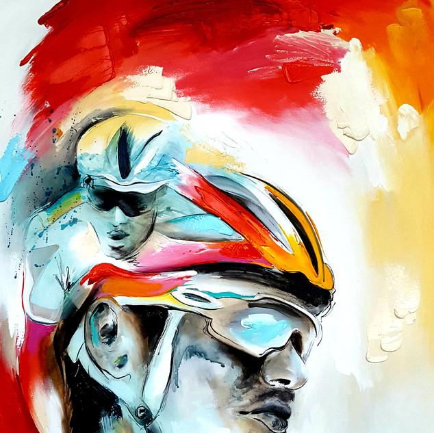 Tom Dumoulin - Schilderij Ridderronde