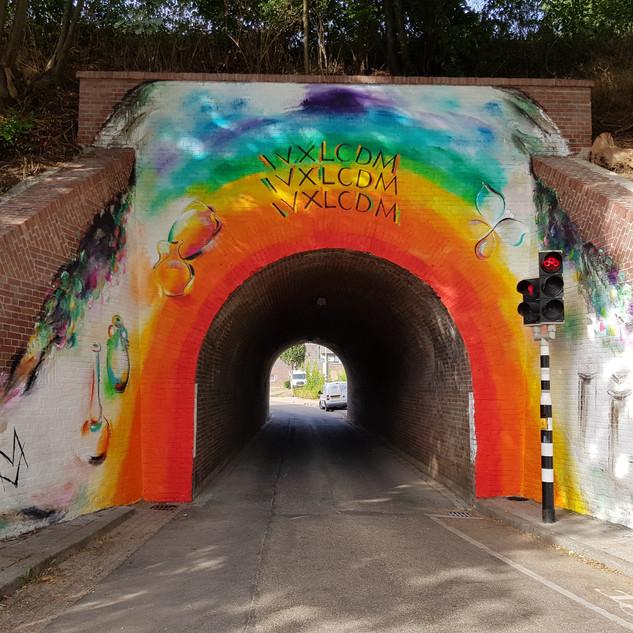 muurschildering viaduct - 2