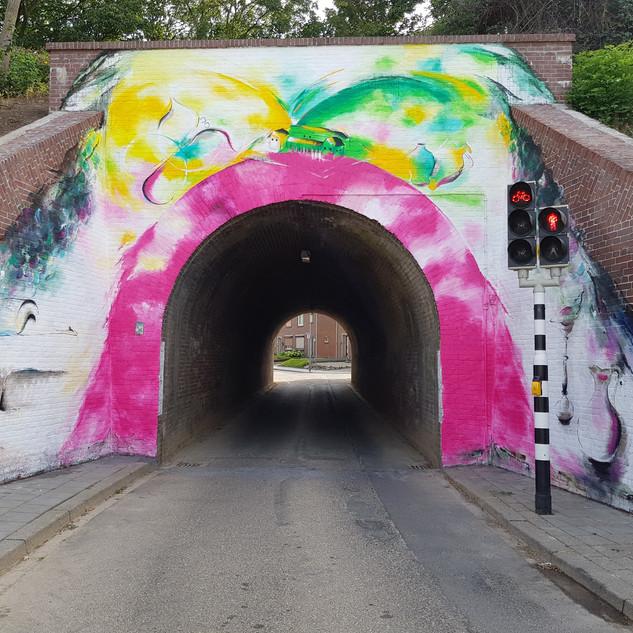 Muurschildering viaduct