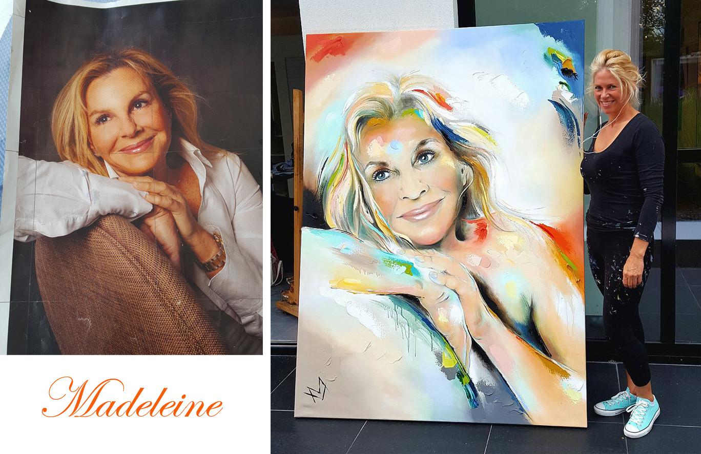 Madeleine foto en schilderij