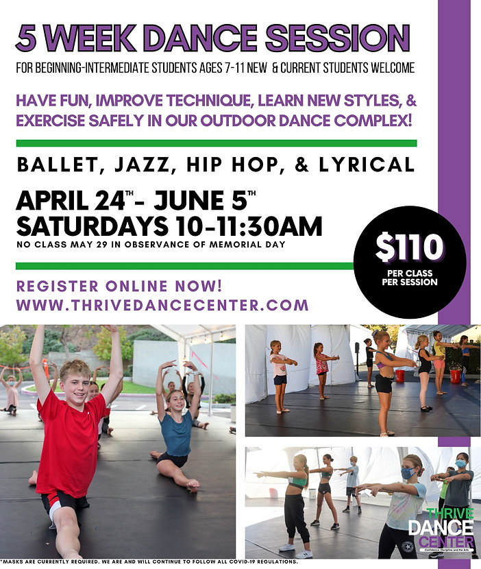 5 Week Dance Session - Thrive Dance Cent