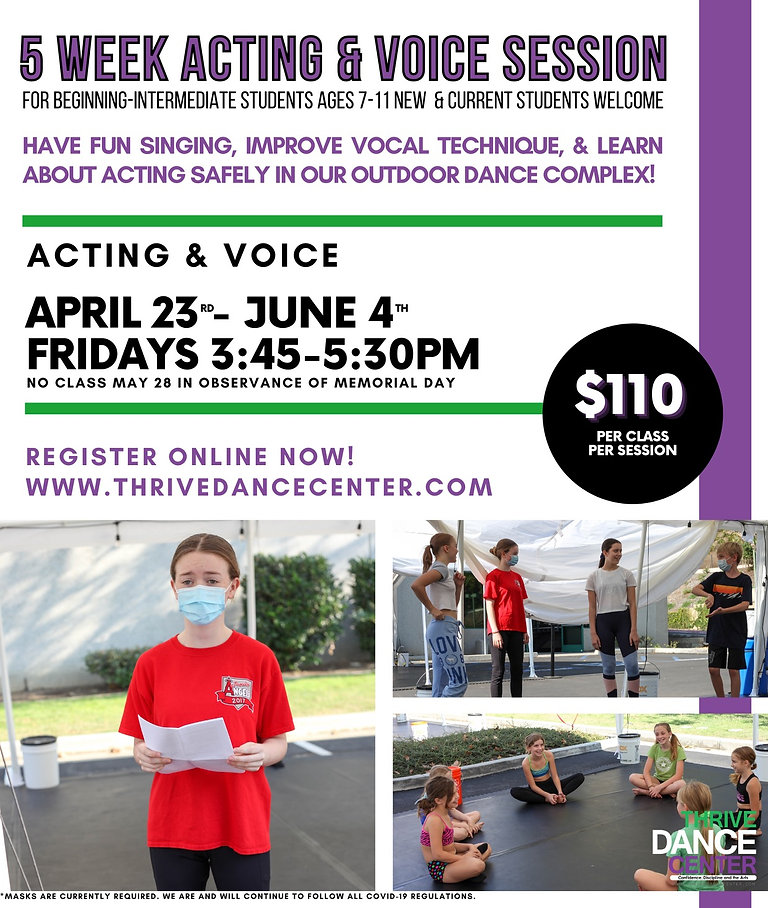 5 Week Acting & Voice Session - Thrive D