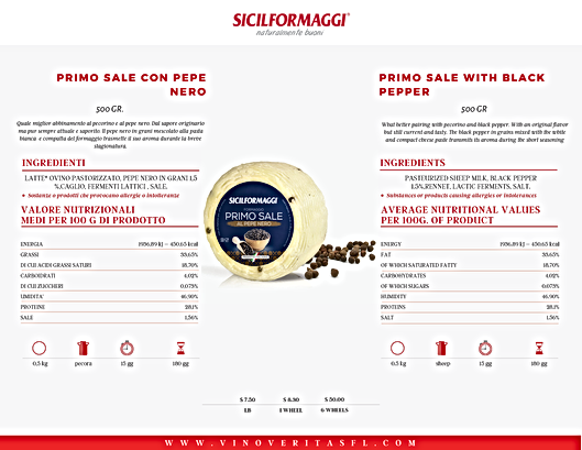 SICILFORMAGGI AND OLIVE OIL WITH PRICES