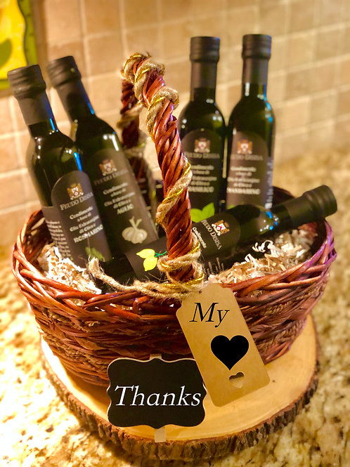 Set of five Italian olive oils