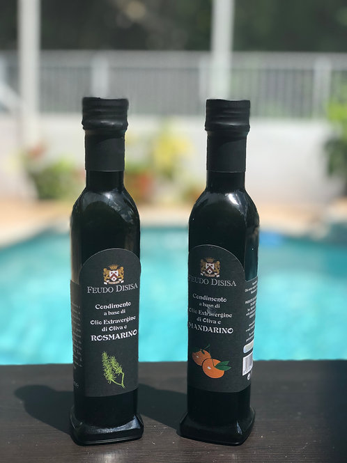 TWO CONDIMENT OLIVE OILS