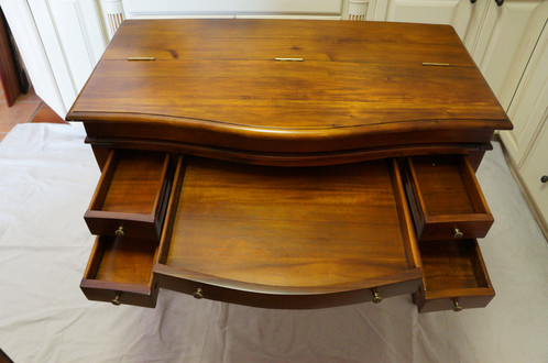 This antique Mahogany desk folds open to reveal a leather top, with plenty  of storage. This unique piece has five exterior drawers, two interior  drawers, ... - Antique Mahogany Desk Mario's Cabinets Custom Cabinets & Woodwork