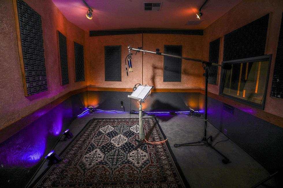 Recording studio with groovy vibes at Harvest Moon Studios in Martinez, CA.