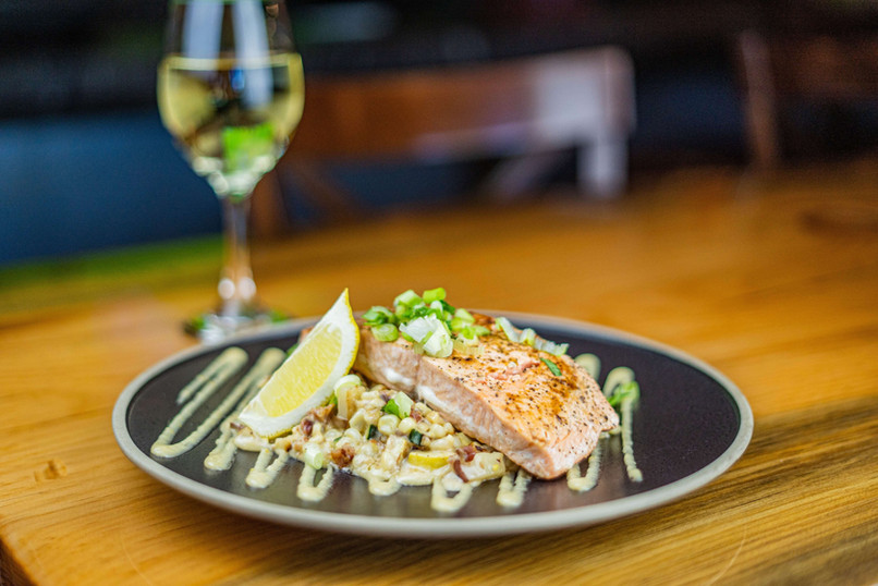 The Hub Natomas CA Fresh and Tasty Grilled Salmon