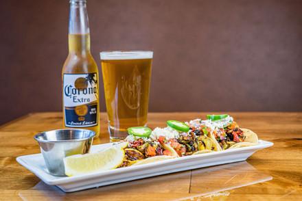 The Hub Natomas CA Yummy Tacos and Corona