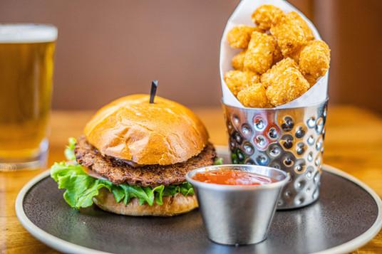 The Natomas CA Yummy Classic Burger and Tots