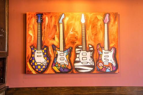 The Hub Natomas CA Funky Art Work Interior