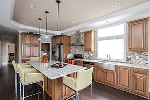 Silvercrest kitchen in manufactured home Paradise Homes