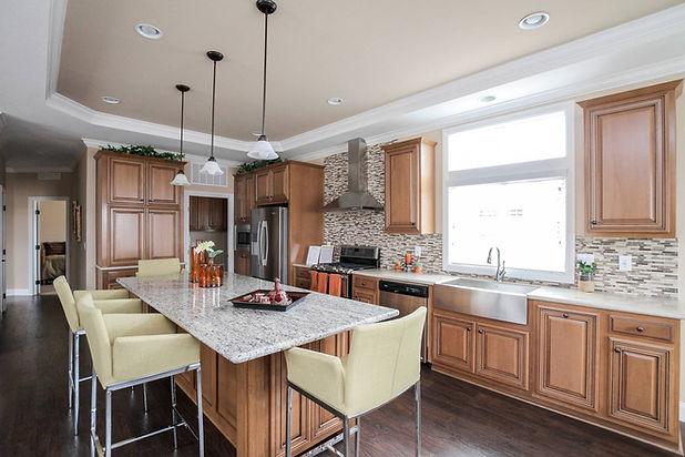 Silvercrest Kingsbrook Kitchen prebuilt home Paradise Homes