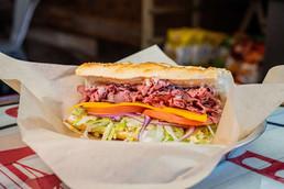 West Coast Sourdough Yuba City CA roast beef sandwich