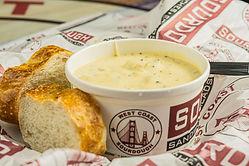 West Coast Sourdough Elk Grove Blvd Elk Grove CA Hot Broccoli Cheese Soup