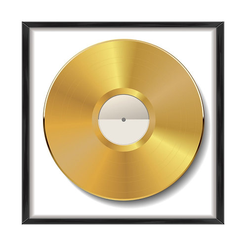 Gold Record Plaque