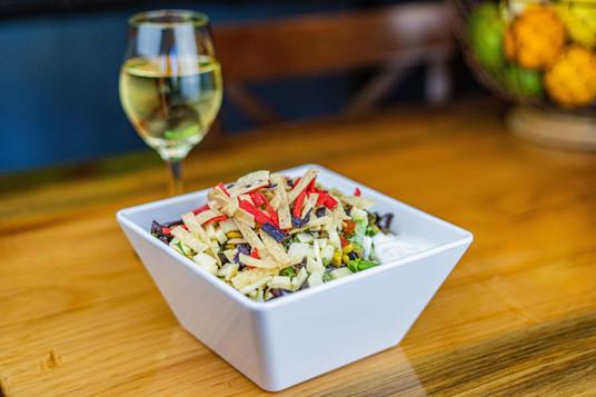 The Hub Natomas CA Colorful and Healthy Salad