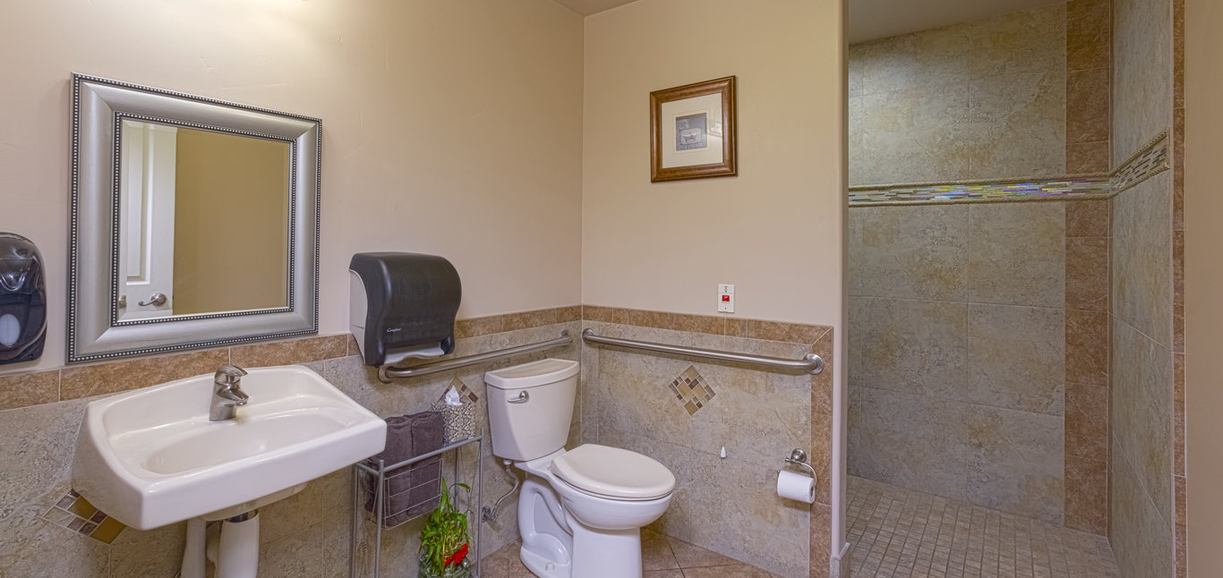 Chateau Senior Living Oranglevale CA Auburn CA Updated Bathrooms