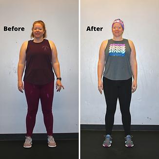 Next Level Fitness- Mary Transformation