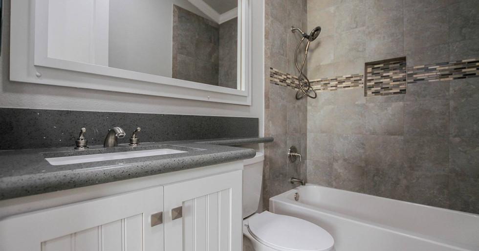 Craftsman Bathroom in Manufactured Home