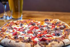 The Hub Natomas CA Large Tasty Pizza