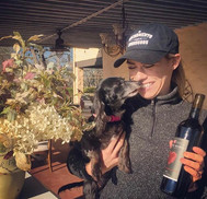 Rancho Roble Women With a Dog and a Bottle of Wine