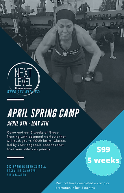 Next Level Fitness Center Spring Camp