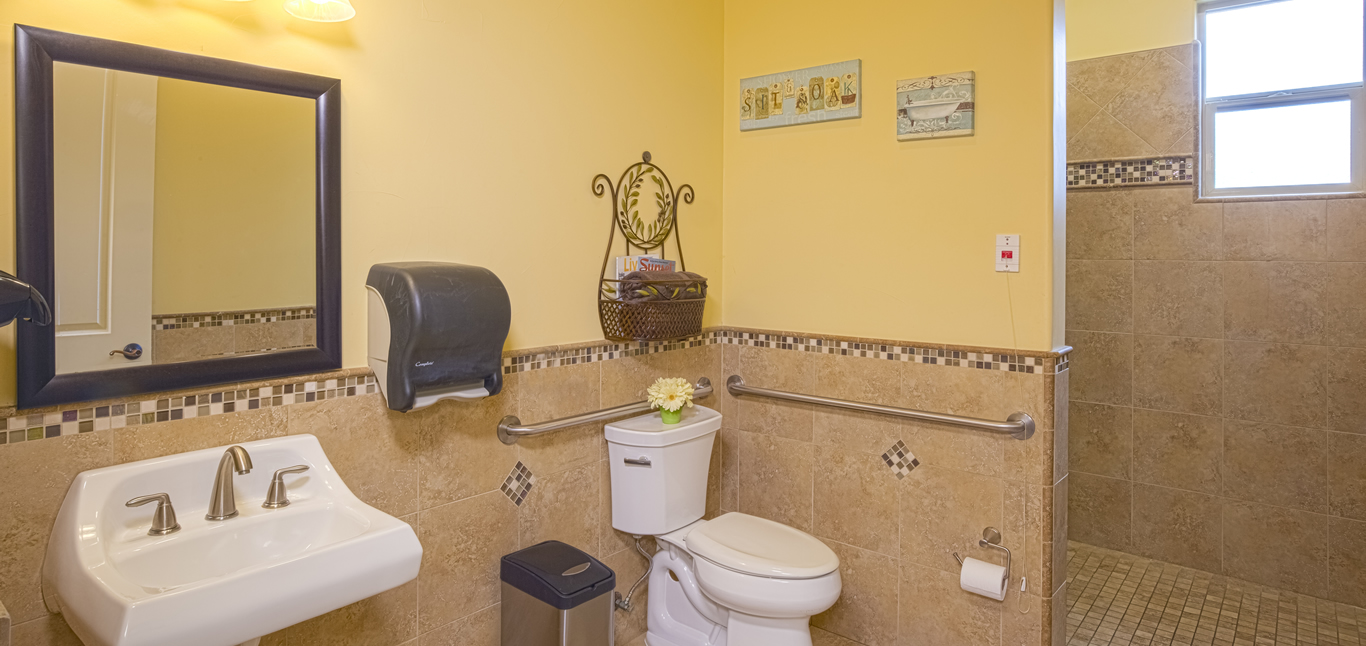 Chateau Senior Living Auburn CA Clean Bathrooms