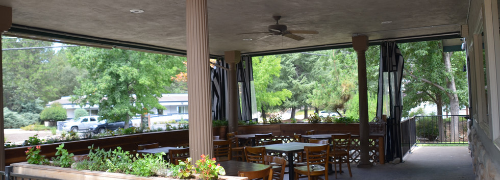 The Tin Lantern Bar & Grill. Outdoor Padio Seating. Meadow Vista, CA.