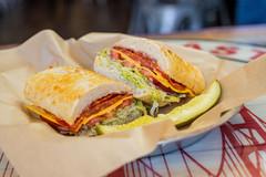 West Coast Sourdough Yuba City CA Large Deli Sandwich with a Pickle
