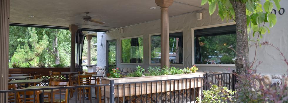 The Tin Lantern Bar & Grill. Outdoor Dining. Meadow Vista, CA.
