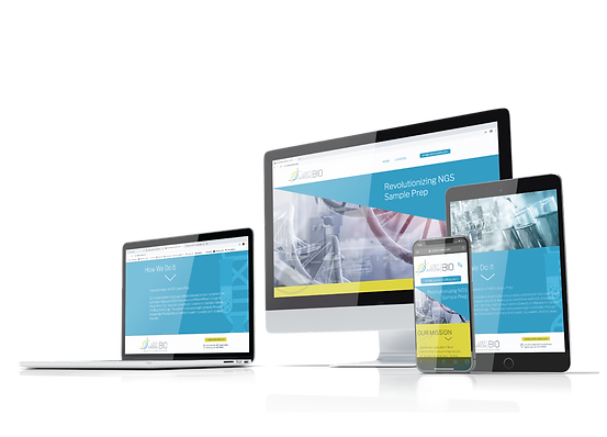 Dedicated Designs bio tech website design