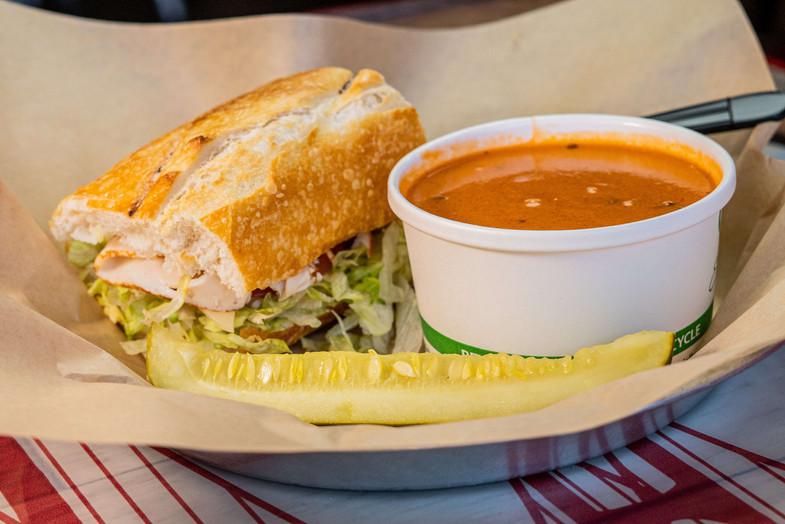 West Coast Sourdough Yuba City CA soup and sandwich