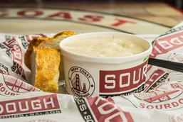 West Coast Sourdough Yuba City CA Hot Cream of Potato Soup