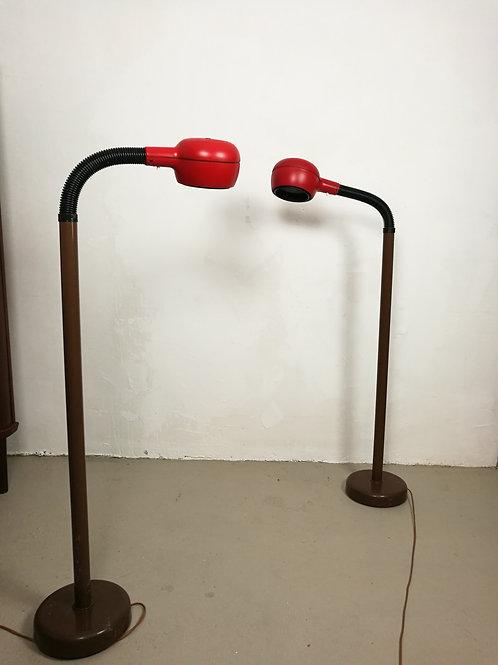 Paire de lampadaires suédois Fagerhult des années 70