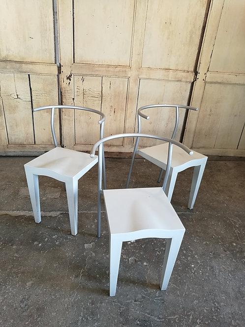 """Set de 3 chaises Starck """"Dr Glob"""" pour Kartell"""
