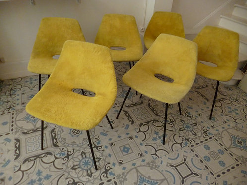 Série de 6 chaises steiner par Guariche