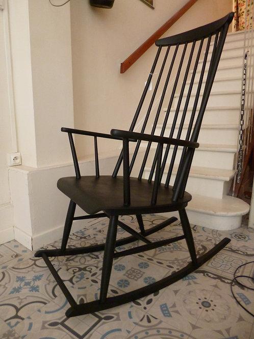 Rocking chair scandinave noir