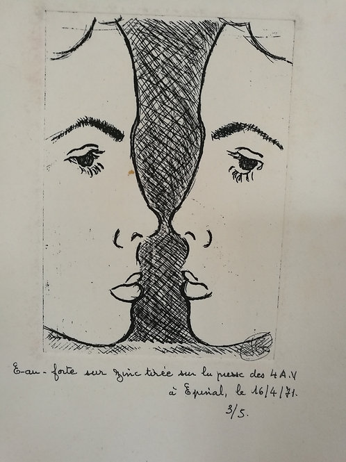 Eau forte, lithographie Jean Toussaint