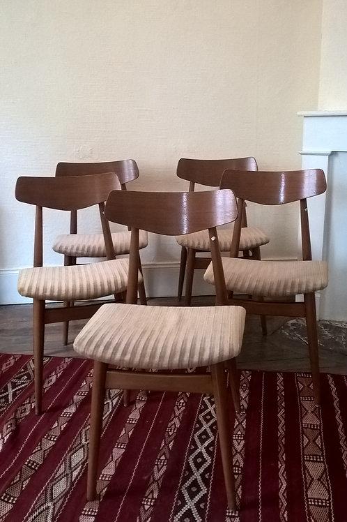 Série de 5 chaises Scandinave