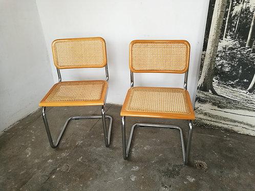 Paire de chaises style cesca de M.Breuer