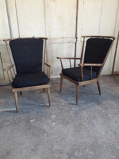 Paire de fauteuils Baumann , modèle événtail