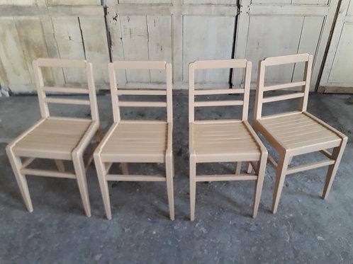 set de 4 chaises reconstructions