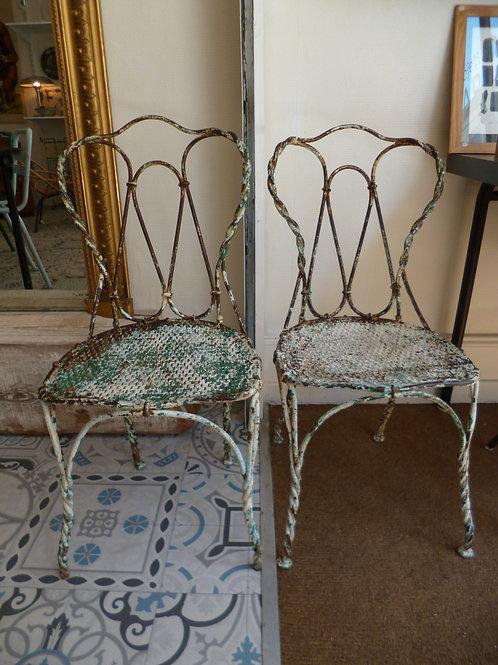 Paire de chaises de jardin Napoléon III