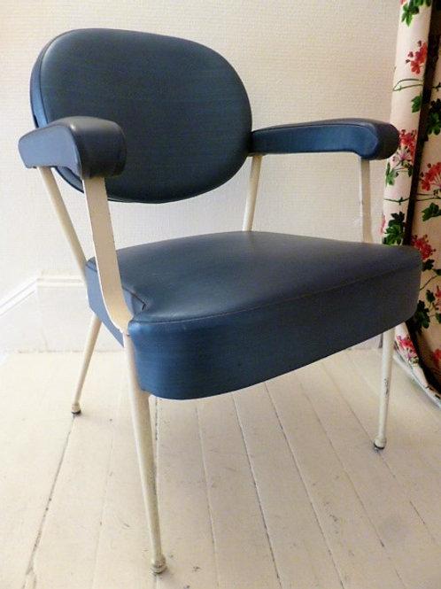 Fauteuil 1960 bleu électrique
