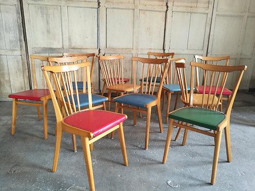 Chaises à barreaux dépareillées