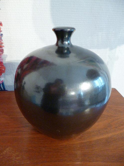 vase en ceramique noir